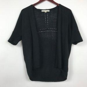 LOFT Women Size Medium Petite Cardigan Black Short